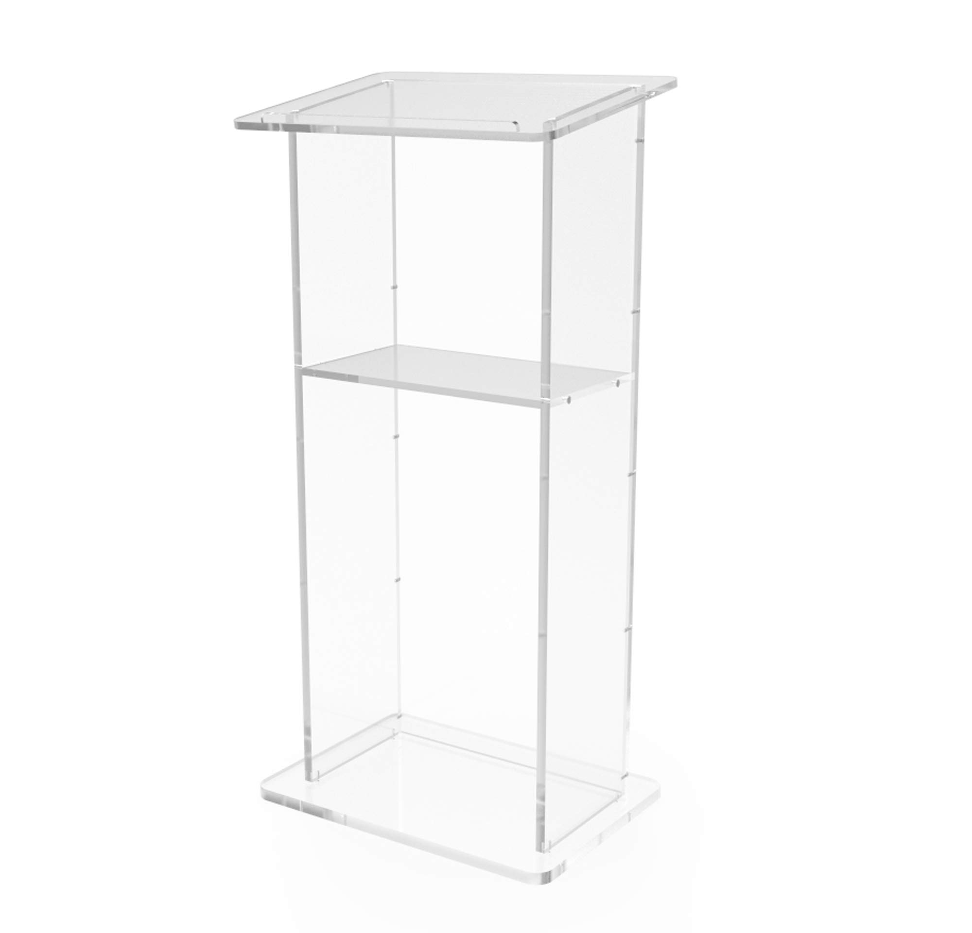 FixtureDisplays Clear Acrylic Lucite Podium Pulpit Lectern 45'' Tall 1803-2 by FixtureDisplays