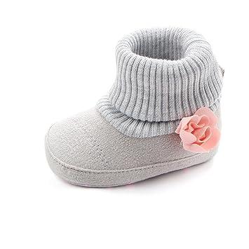 b544b2721bb Zapatos De Bebé Botas de cuna de flores de bebé recién nacido Patucos niñas  Niños Primeros