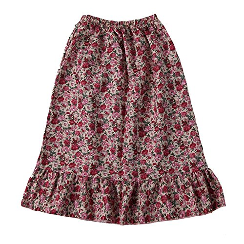 Making Believe Girls Pioneer Skirt, Pink Calico, Girls Medium 6/8 ()