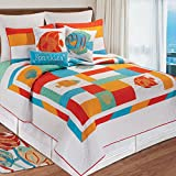C&F Home 82082.10592 South Seas Quilt, King, Orange