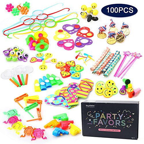 Amy&Benton 100 Pcs Treasure Box Prizes for Classroom Teacher, Pinata Filler Toy Assortment for Kids, Carnival Prizes for Kids Birthday Party Favors