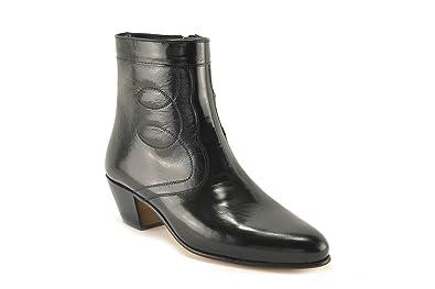 ConBuenPie by Marttely Design - New Collection - Botin de Piel con tacón cubano para Hombre - Color Negro y Jacinto. (38, Negro): Amazon.es: Zapatos y ...