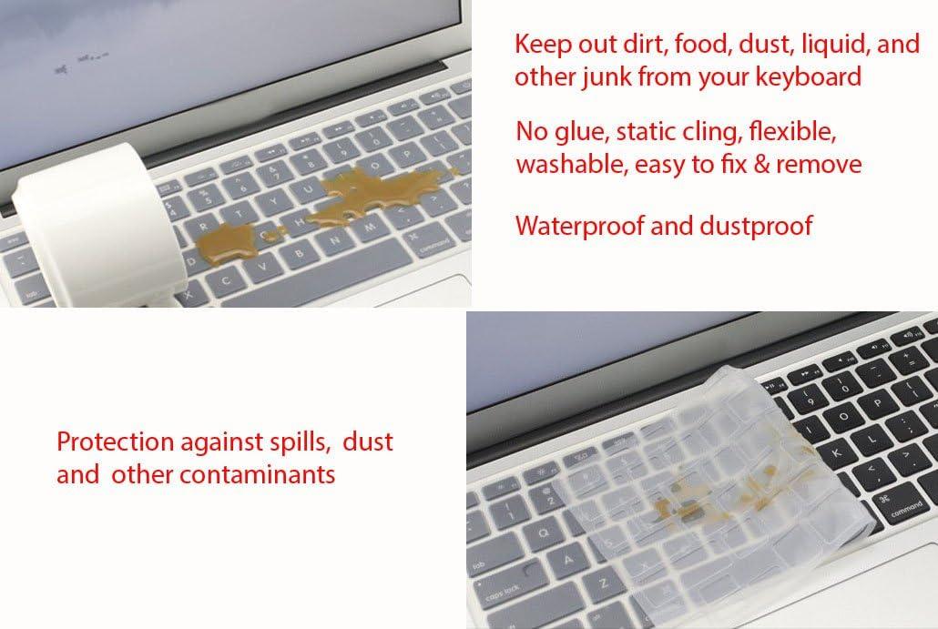 Saco Chiclet Keyboard Skin for HP Pavilion 15-n006AXLaptop Transparent