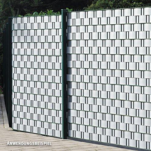 Videx Visión – Tiras para vallas incl. Rieles de sujeción, PVC imitación de madera, 2 unidades, aluminio, H: 9, 5 x l: 250 cm: Amazon.es: Jardín