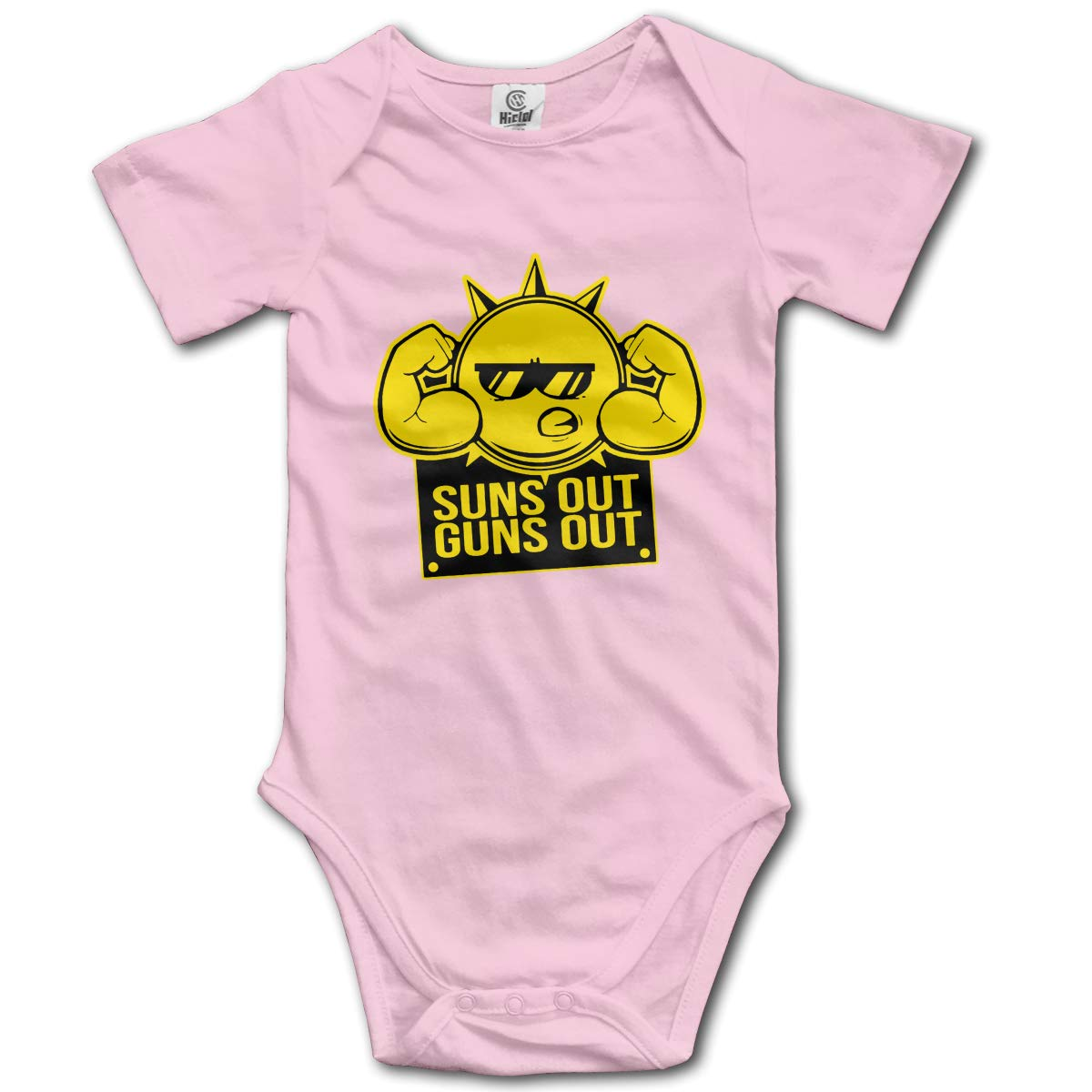 Suns Out Guns Out Toddler Baby Romper Summer Short Sleeve Jumpsuit Funny Gift