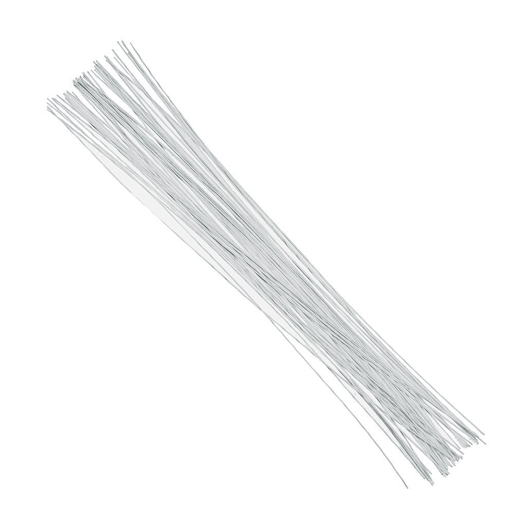 Amazon.com: Decora 22 Gauge White Floral Wire 16 inch,50/Package ...