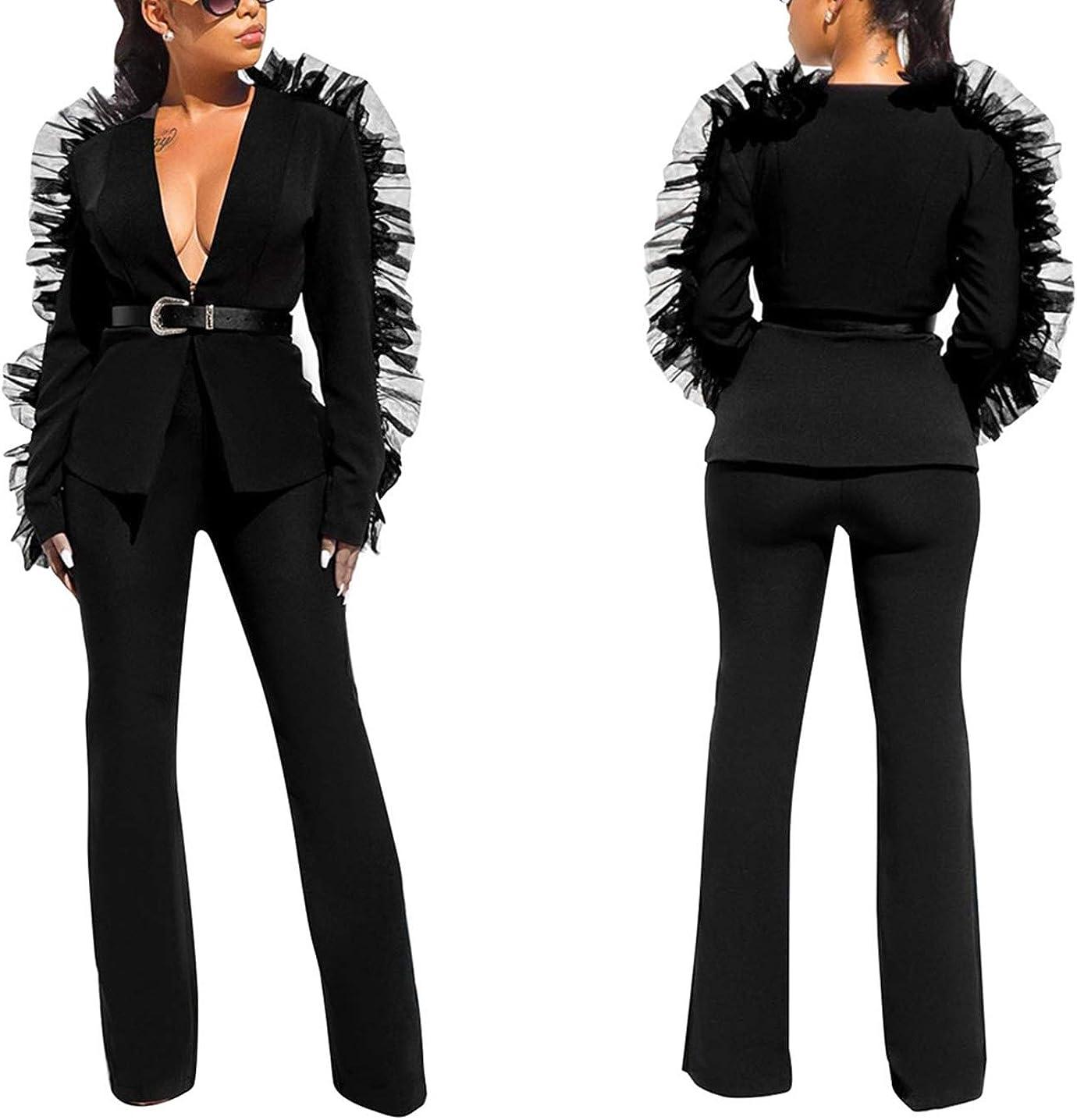 Amazon.com: 2 piezas de trajes para mujer de manga larga ...