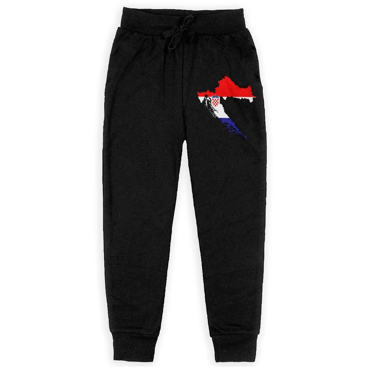 IufnNRJndfu Croatia Boys Athletic Smart Fleece Pant Youth Soft and Cozy Sweatpants