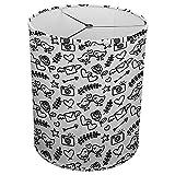 Hardback Linen Drum Cylinder Lamp Shade 8'' x 8'' x 8'' Spider Construction [ Love Letter Mail Birds ]