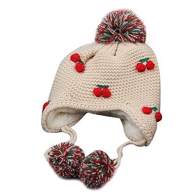 Familizo Bébé Fille Garçon Bonnet Tricoté Bonnet Froid Chapeau Chaud  d hiver d enfants ad8c8832cde