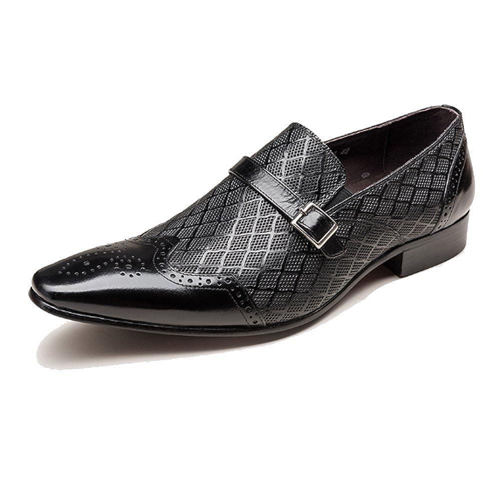 NIUMJ Männer Geschnitzt British Geschäft Atmungsaktiv Outdoor Faule Schuhe