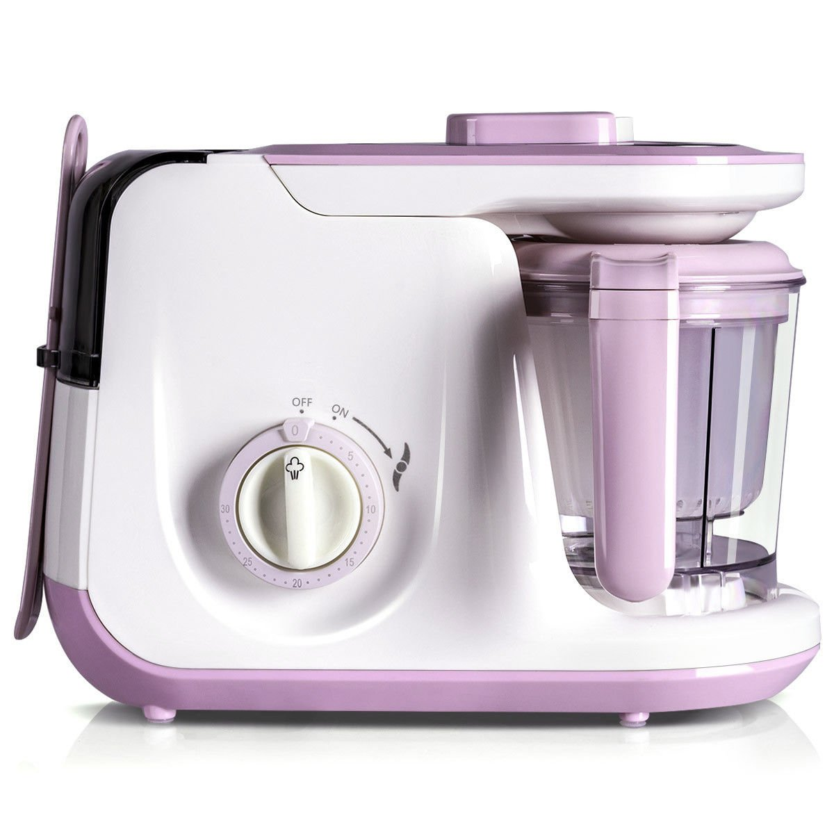 Costzon Baby Food Processor, 5 in 1 Food Maker for Toddlers with Steam, Blend, Chop, Sterilizer, Deforest, Clean Function, One Hand Operation, Auto Shut-Off