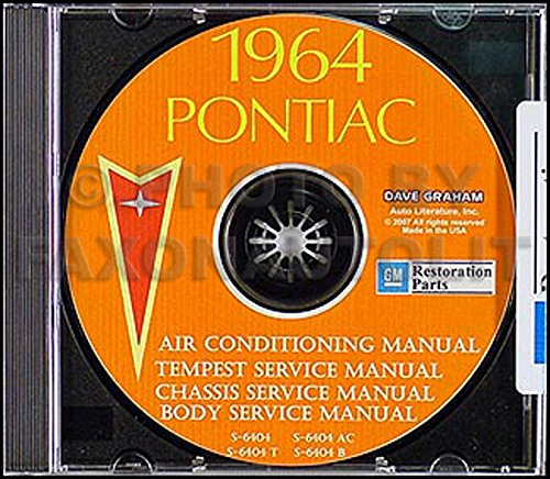 1964 Pontiac CD Repair Shop Manual with Body & Air Conditioning Manuals