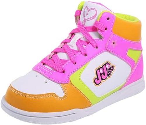 JoJo Siwa Shoes Pink Orange Court High-Top Sneaker Girl Size 2.5 New