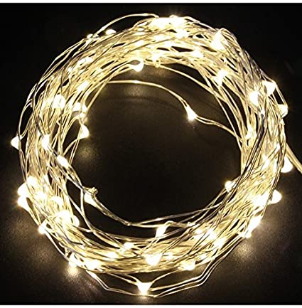 sharpet 197ft battery operated warm white led string lights 100 tiny bright lights on