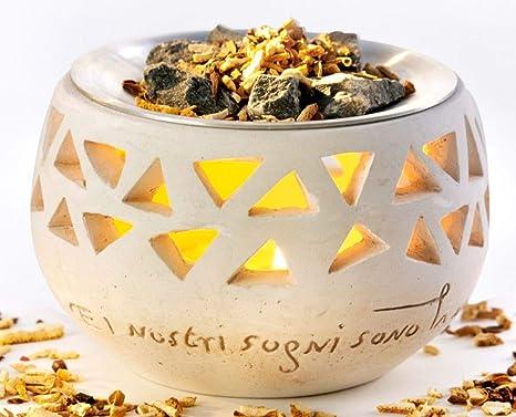 CV Duftlampe TOSKANA Raumduft Vitalofen Saunasteine Duftmischung Stövchen Teelicht