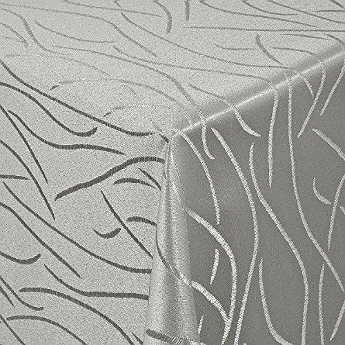 Damast Tischdecke Maßanfertigung im Streifendesign in Grau Größe wählbar wählbar wählbar 130cm x230cm B00PPBHD4K Tischdecken 773403