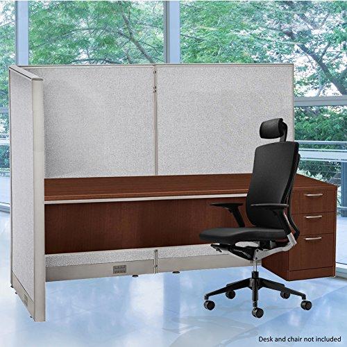 (GOF 36D x 72W x 60H L-Shaped Freestanding Partition 36D x 72W x 60H / Office, Room Divider 3' x 6' (36D x 72W x 60H))