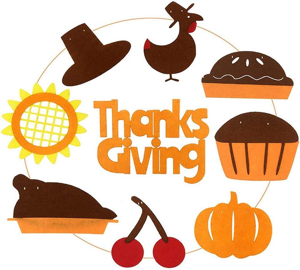 Bozoa Thanksgiving Banner Thanksgiving Turkey Garland Banner Hats//Turkey//Sunflower//Cherry//Drumsticks//Pumpkin//Hamburger Thanksgiving Day Party Supplies Decorations