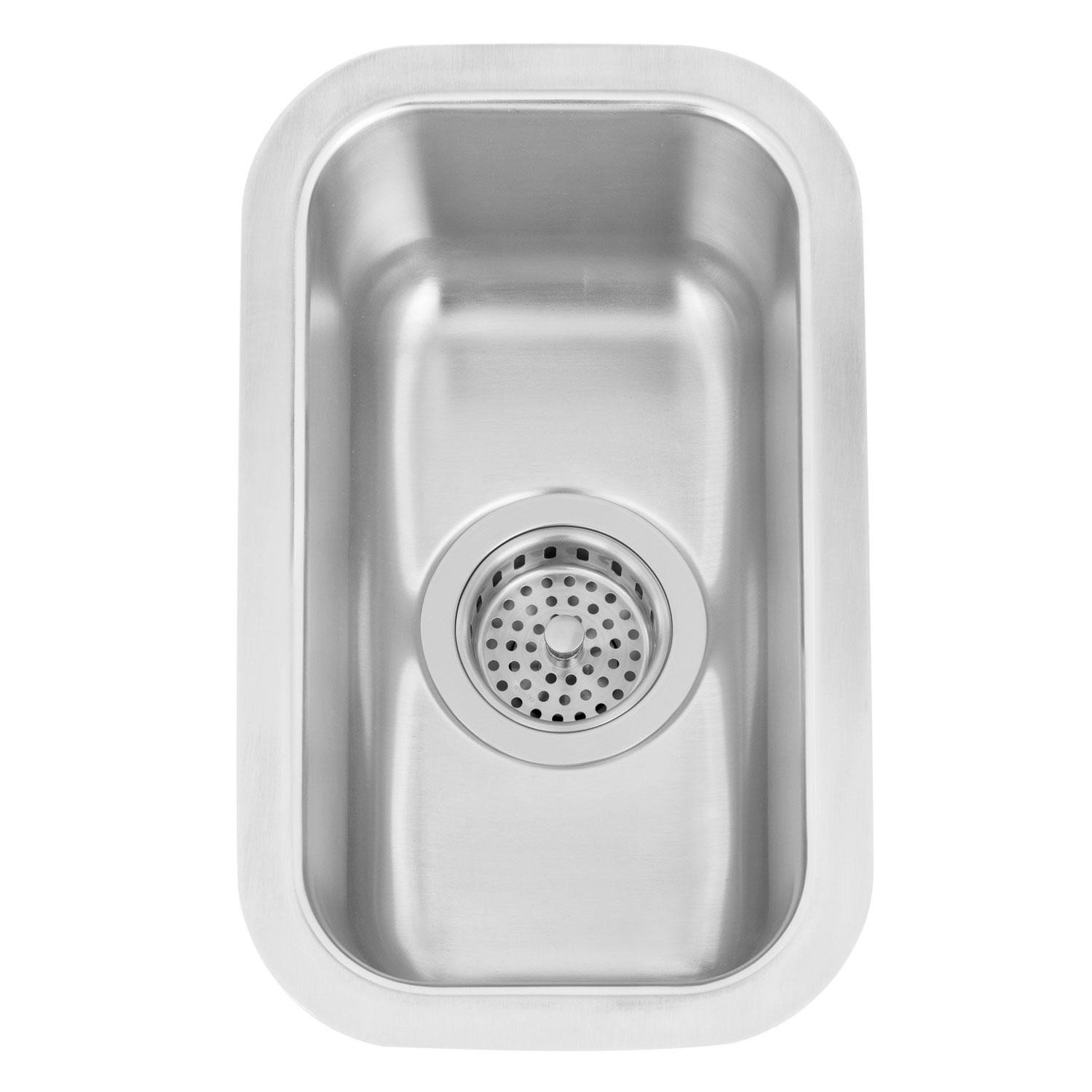 Naiture 9'' Narrow Stainless Steel Undermount Prep Kitchen Sink Without Drain by SH