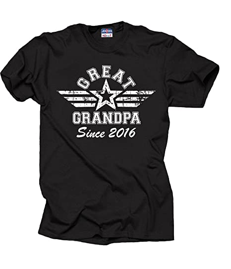 aff2a4b2 Amazon.com: Great Grandpa 2016 T-Shirt Great Grandfather tee Shirt ...