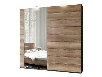 Schwebetürenschrank Miro 12 Modernes Kleiderschrank mit Spiegel ...