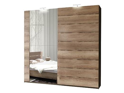 Schwebetürenschrank Miro 11 Modernes Kleiderschrank mit Spiegel ...