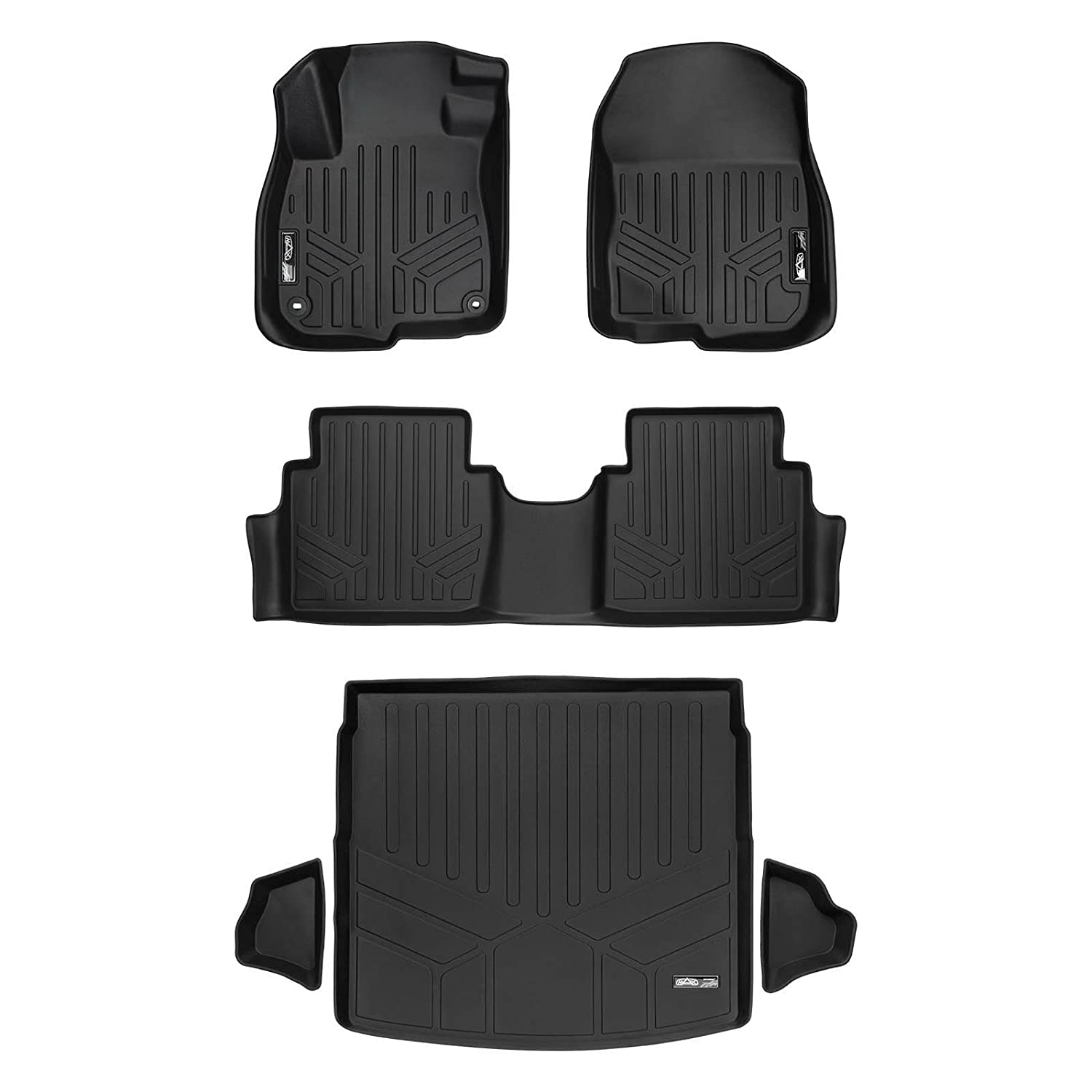 Set Black for 2017-2018 Honda CR-V SMARTLINER Floor Mats and Cargo Liner Factory Upper Deck Position
