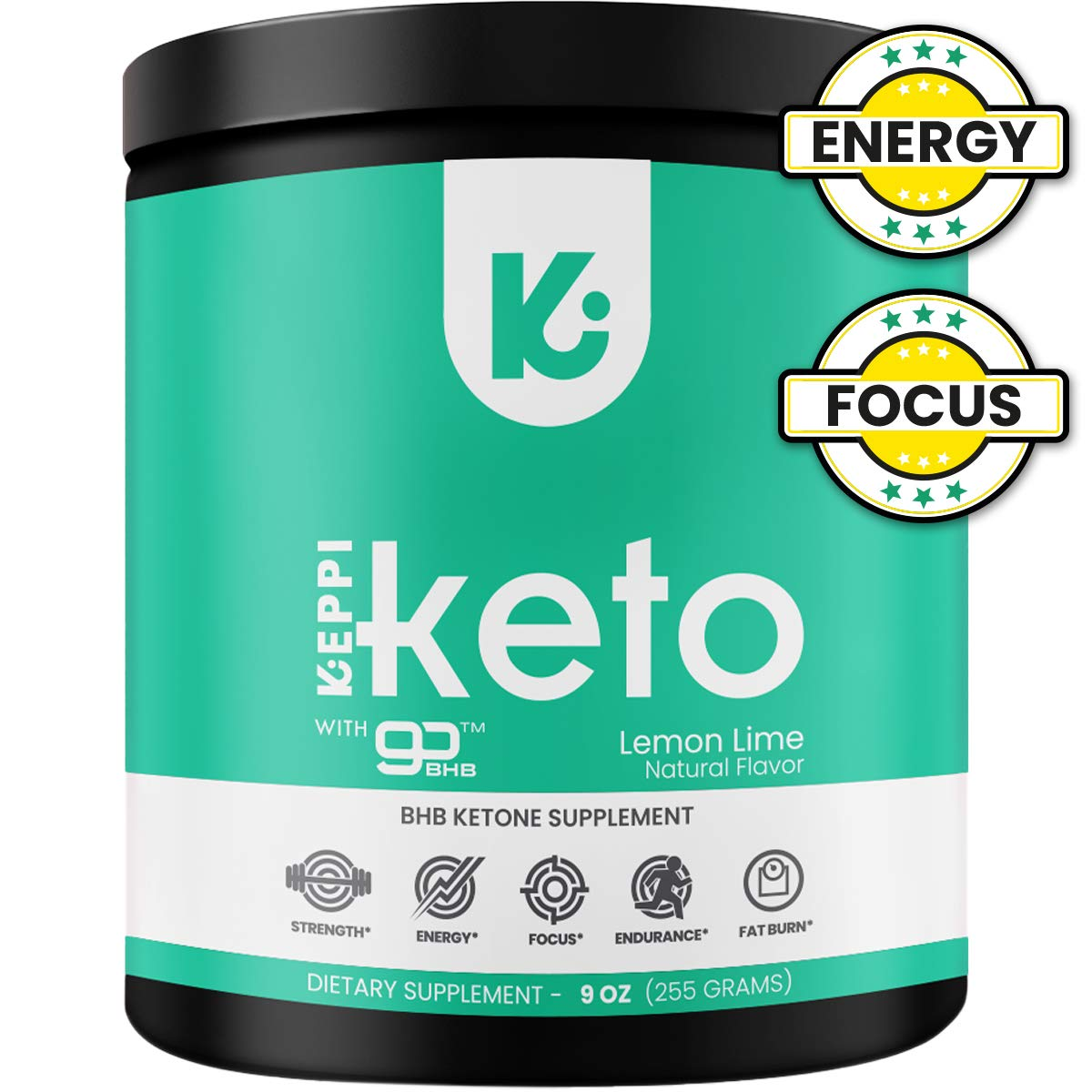 KEPPI Keto BHB Exogenous Ketones Powder Supplement: Patented BHB Ketones Formulated to Increase Energy, Burn Fat, Maintain Ketosis and Mental Focus by Keppi