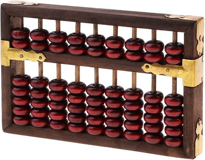 Boulier chinois Soroban /à 23 chiffres pour calculer larithm/étique Outil dapprentissage de calcul des math/ématiques pour enfants Portable