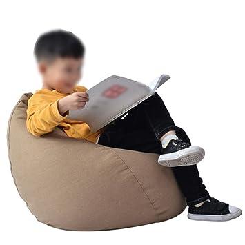 Sitzsäcke Kindersofa Liege Schlafzimmer Tuch Abnehmbare Und Waschbare  Wohnzimmer Liegestuhl (Farbe : Kaffee   Farbe