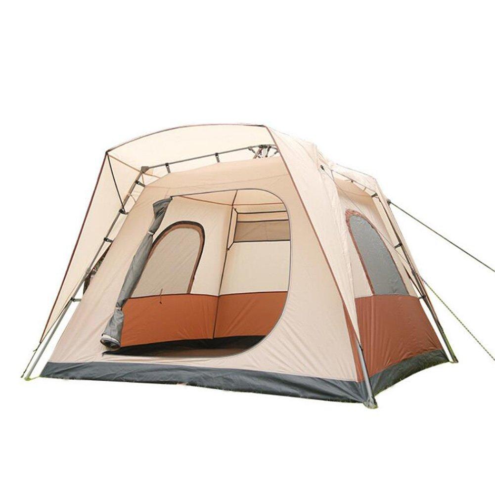 Camping Zelt Free Build Automatisches Zelt 1 Sekunde Schnell Pop Up Tent5-8  Herrenchen Große Zelte Wasserdicht Winddicht Atmungsaktive Skylight Zelte Familie Outdoor-reisen Camping Zelte Beige