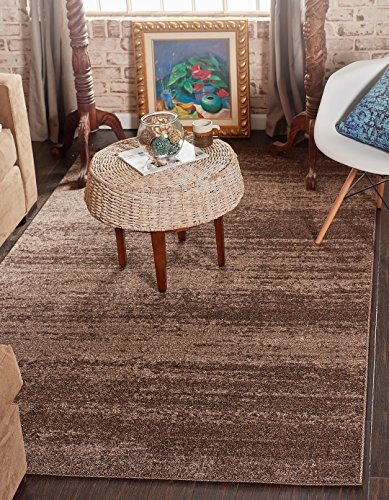 Over-Dyed Modern Vintage Rugs Brown 3' 3 x 5' 3 FT Palma Collection Area Rug - Perfect for Any Place