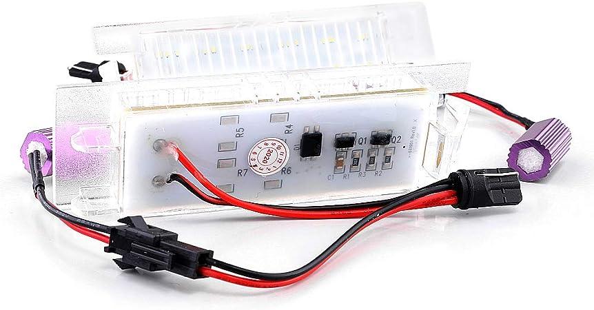 Lightdelux Ersatz Für 2 X Led Kennzeichenbeleuchtung Nummernschildbeleuchtung Ohne Fehlermeldung Mit E Prüfzeichen V 034407 Auto