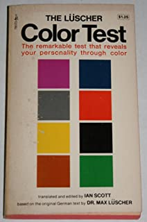 Luscher Color Test Max Luscher 9780671731458 Amazoncom Books