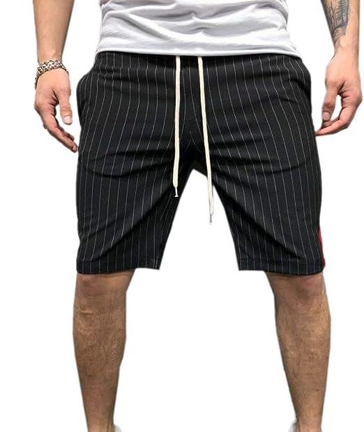 124124729c M&S&W Mens Stripes Flat Front Plain Mid Rise Chino Walk Shorts at ...