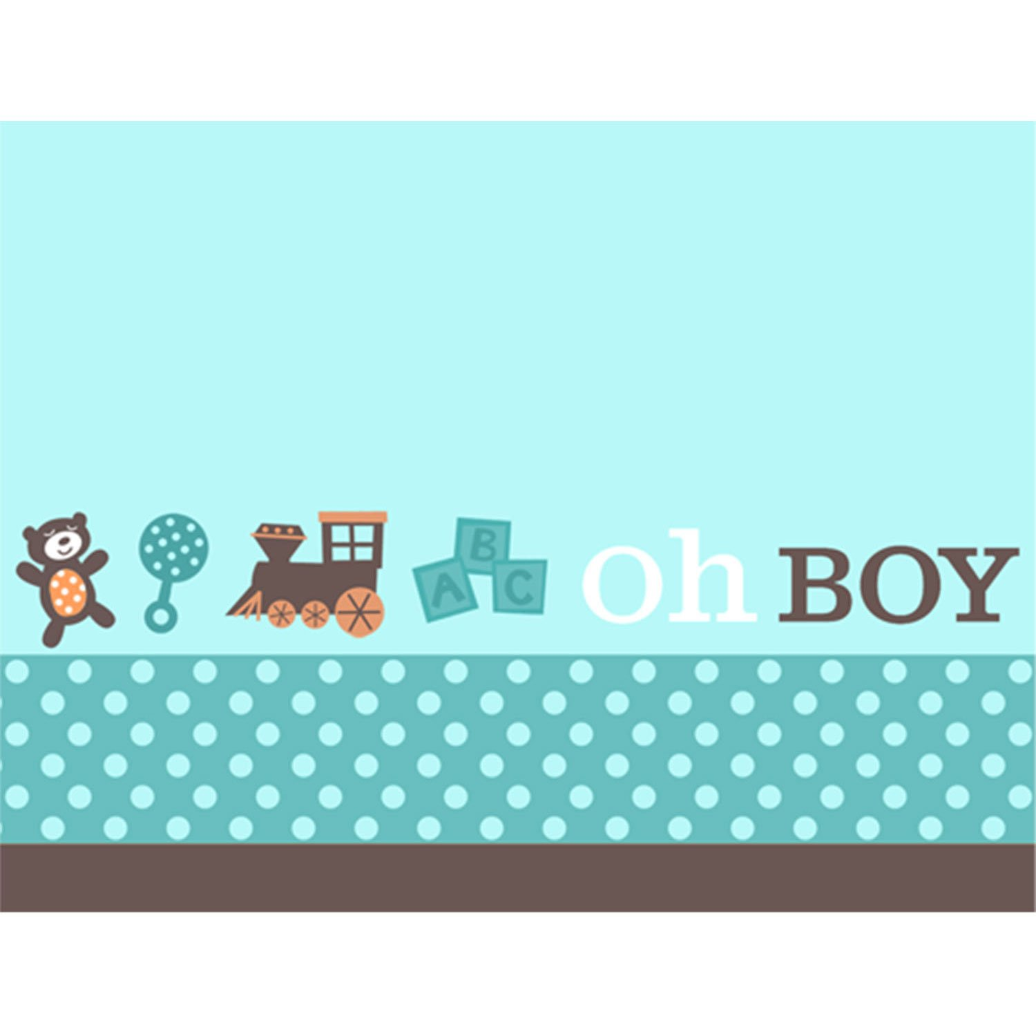 Amazon.com : Boy Oh Boy Baby Shower Invitations : Childrens Party ...