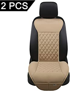 Black Panther Car Seat Covers, Luxury Car Protector,Universal Anti-Slip Driver Seat Cover with Backrest(2 Pieces,Beige)