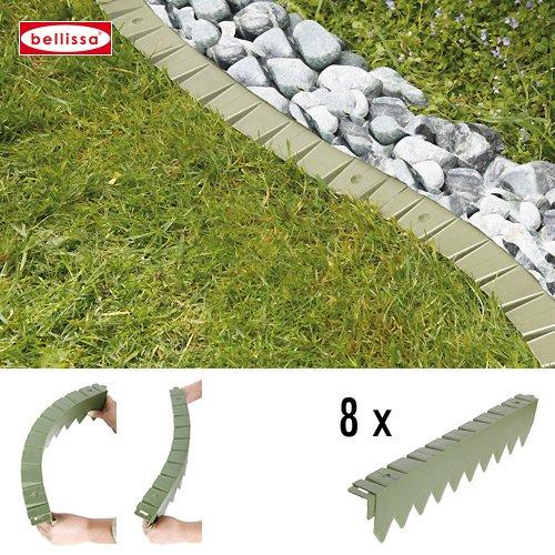 Rasenkante Comfort Kunststoff 8 Er Set Ohne Rand Flexibel 10102