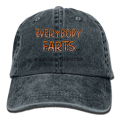 Richard Everybody Farts. Unisex Cotton Washed Denim Leisure Hats Adjustable - Hat Vs Running Visor