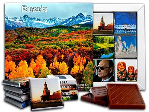DA CHOCOLATE Candy Souvenir RUSSIA Chocolate Gift Set 5x5in 1 box (Forest)