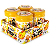 4-Bottles Trident Vibes Tropical Beat Sugar Free Chewing Gum (160 Pieces Total)