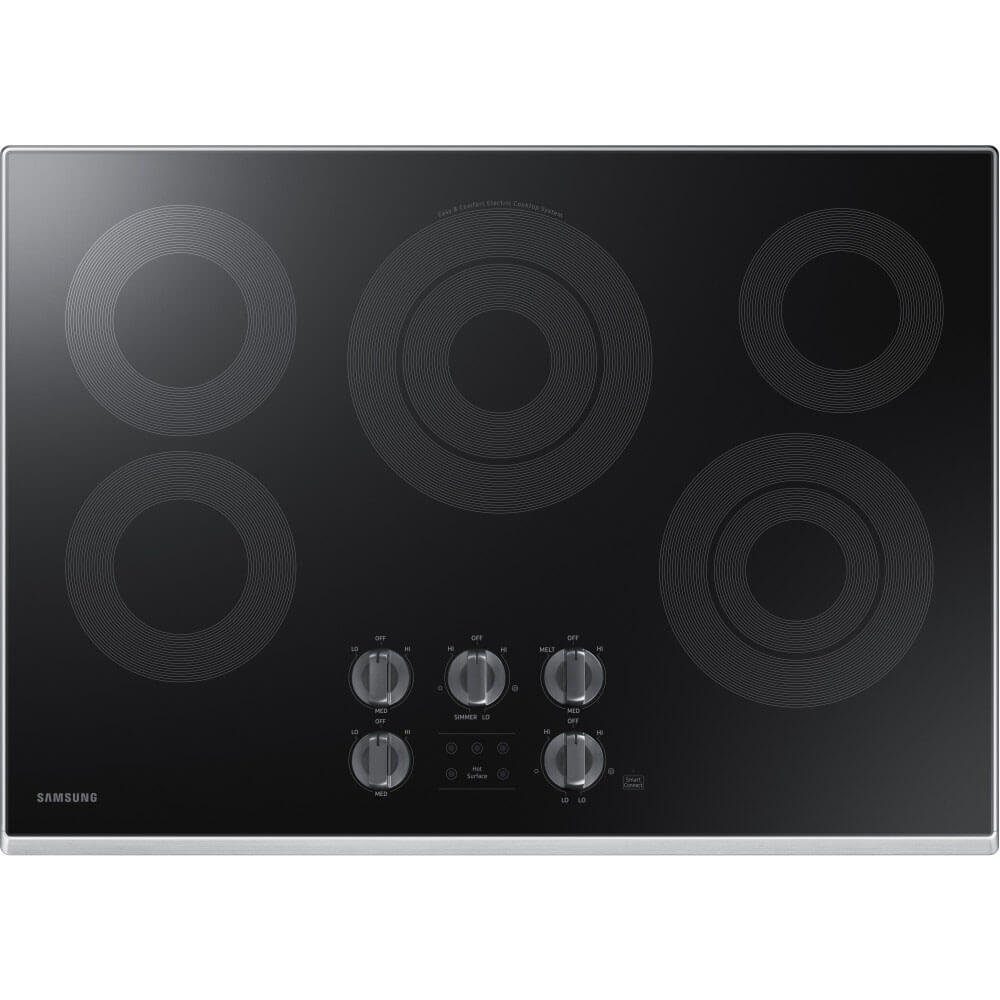 Samsung 30 Stainless Steel Electric 5 Element Smoothtop Stovetop Cooktop NZ30K6330RS