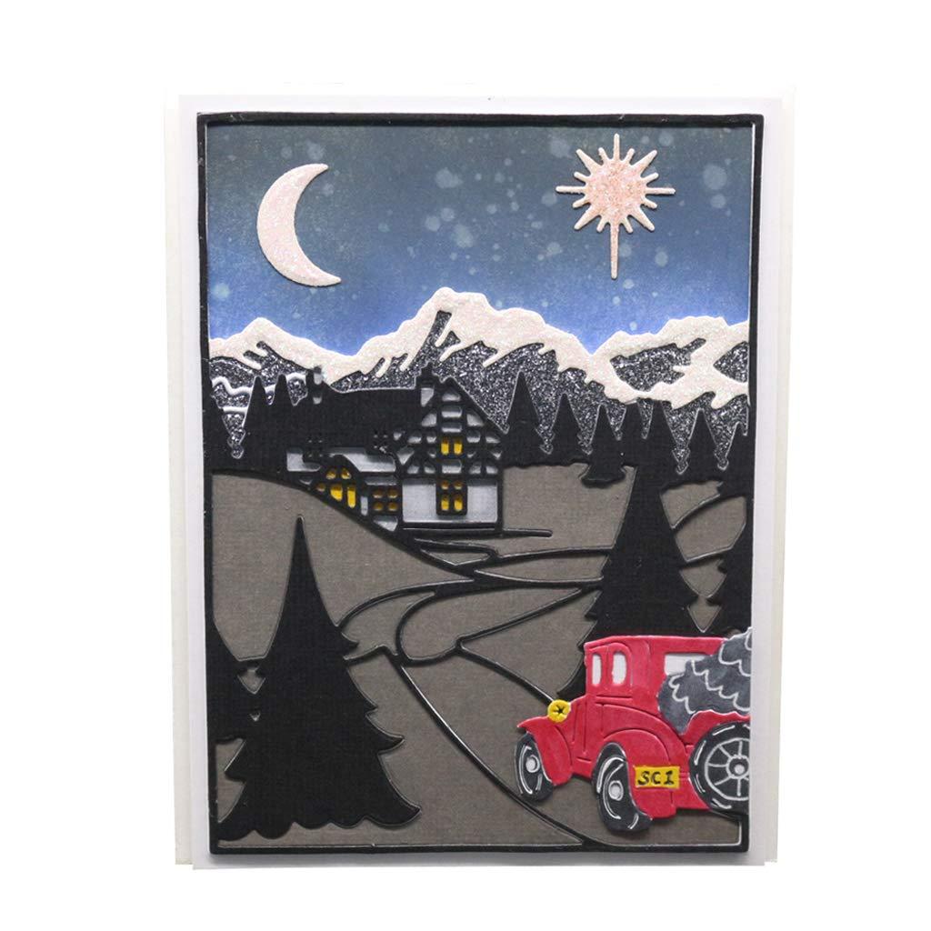 carte de gaufrage Yhdcc44 Matrices de d/écoupe en m/étal pour voiture scrapbooking artisanat pochoir pour album de bricolage d/écoration