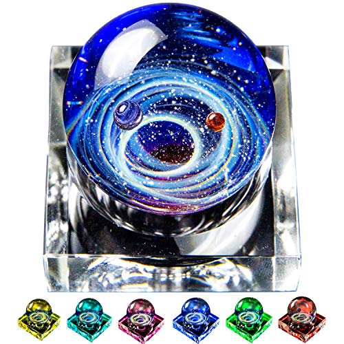 Pavaruni Original Galaxy LED Decoration Display, Universe Glass, Space Cosmos Design,Birthday Art Japan Handmade Craftsman (Venus(Display with LED 7 -