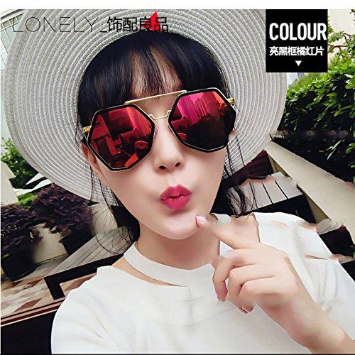 Xue Moda Femenina Gafas Gafas Sol zhenghao Personalidad Macho De Sol Azul Frame Rojo Big De UqzxFrUR