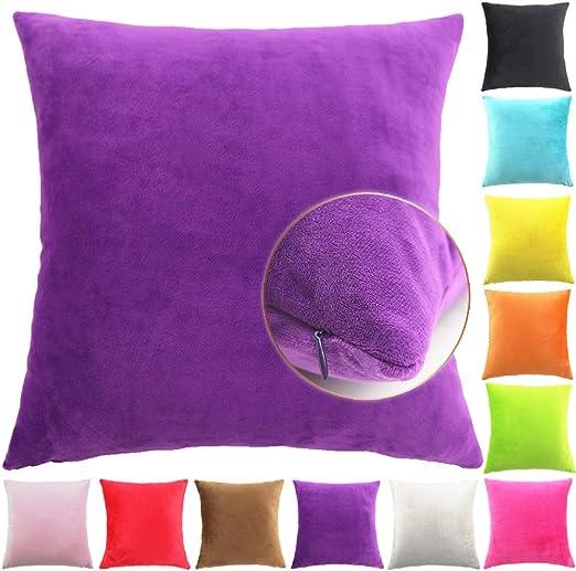 Easondea Fundas de Coj/ín de Color s/ólido Square Decorativos para Sof/á Cama Coche Fundas Cojines Funda de Almohada Crema 30X45CM