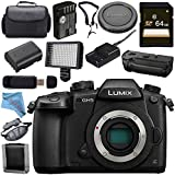 Panasonic Lumix DC-GH5 DC-GH5KBODY Mirrorless Micro Four Thirds Digital Camera DMW-BGGH5 Battery Grip Bundle
