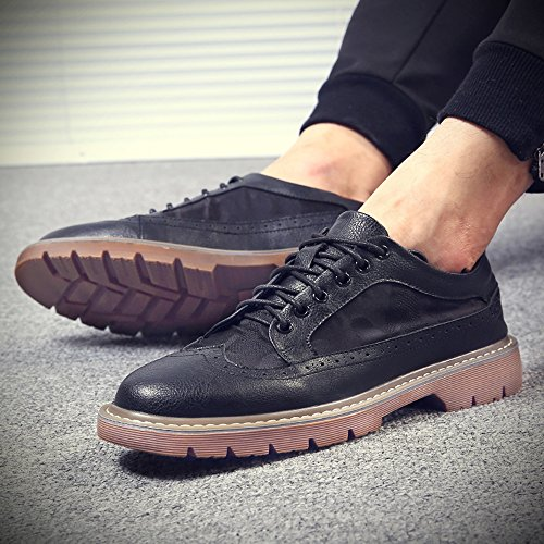 Men's Shoes Feifei Summer Fashion Leisure Breathable Leather Shoes 2 Colours Black XBJTG8cE