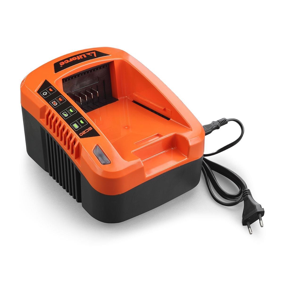 Akku passend f/ür alle FUXTEC 40V Ger/äte Ladestation EC20 Besonderheit FUXTEC 40V Akku Laubbl/äser Set mit Samsung Lithium Akku Batterie 4Ah//EP40